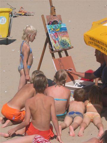 Belangstelling op het strand
