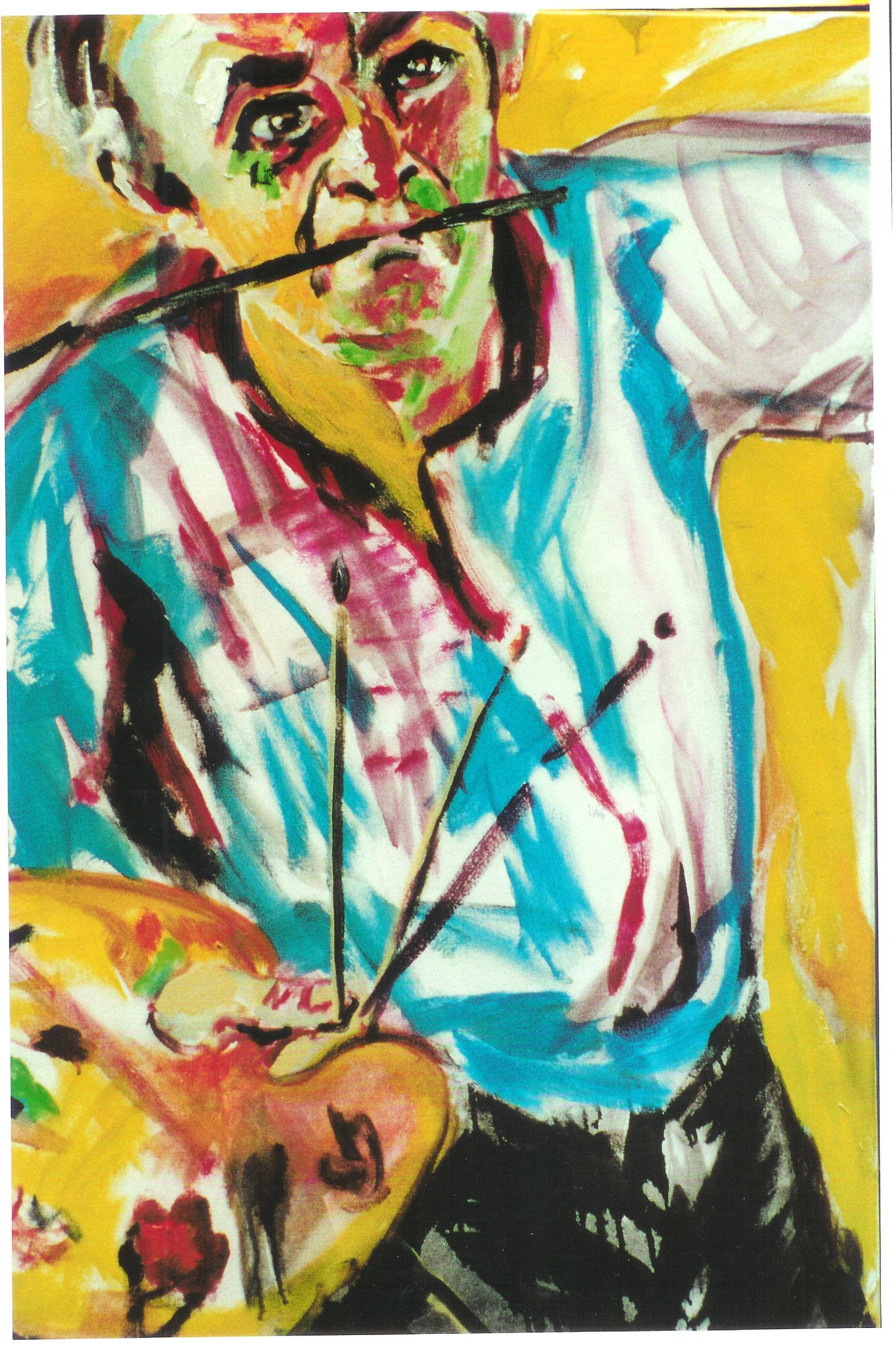 zelfportret in geel (100x80)