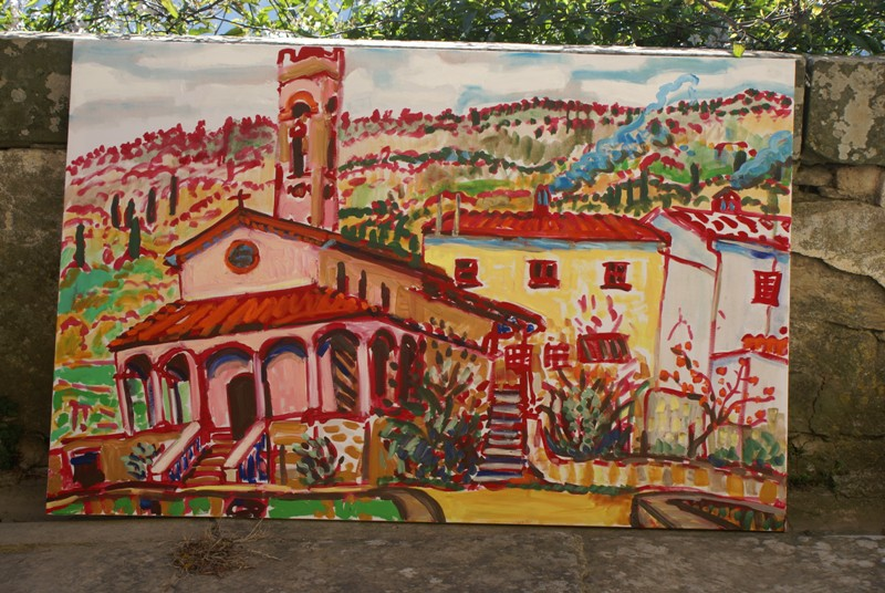 Kerkje Pomino II (schilderij)