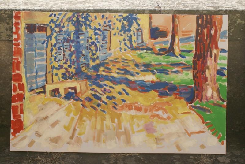 Schaduwen boompartijen Petrognano