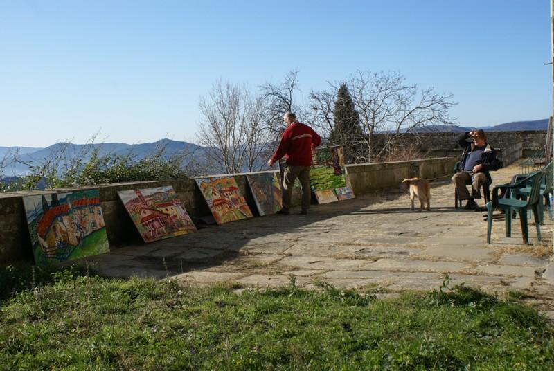 opbrengst schilderen in Italie Petrognano