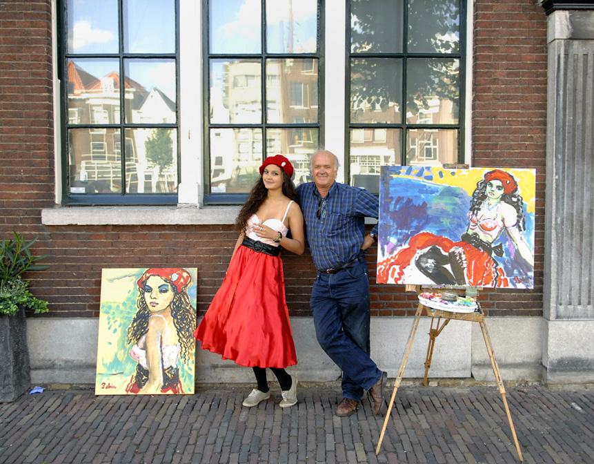 Model en kunstwerken