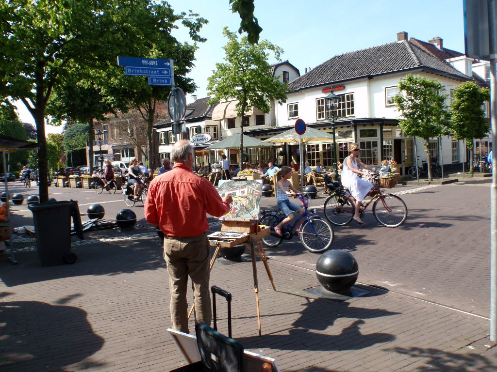 Robin schildert live in Baarn