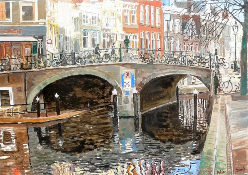 Visbrug Nieuwe Rijn Leiden