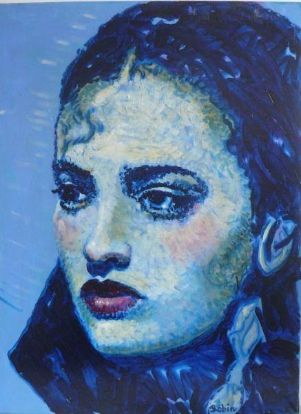 Carmen in blauw