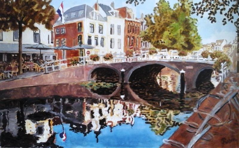 Rapenburg schilderij voor expo Leidse Lente 2018 (bewerkt)