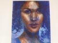 de vrouw met het blauwe haar