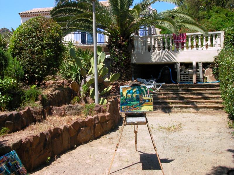 Tuin Villa Thalassa Antheor PLage