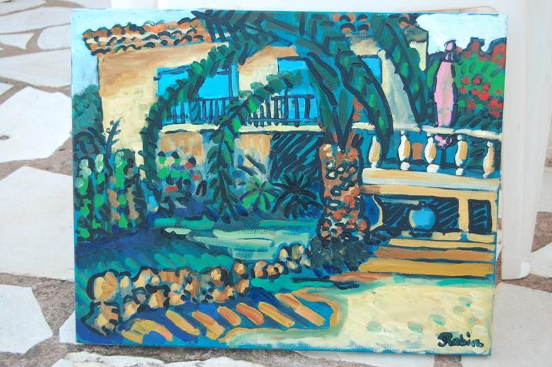 de villa schilderij