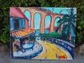 Viaduct schilderij