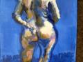naakt in blauw
