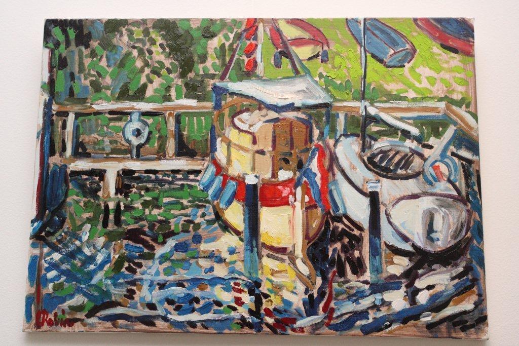 Aaibaar bootje Veere Zeeland (50x70)