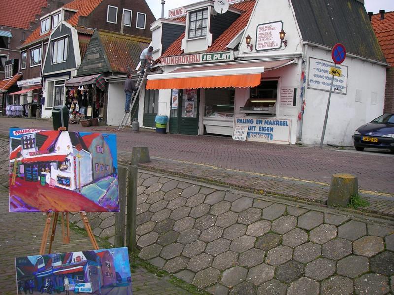 Schilderen op locatie Volendam