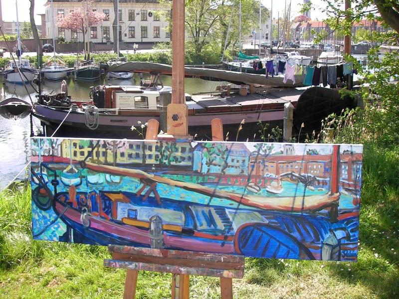 schilderen op locatie Veere I
