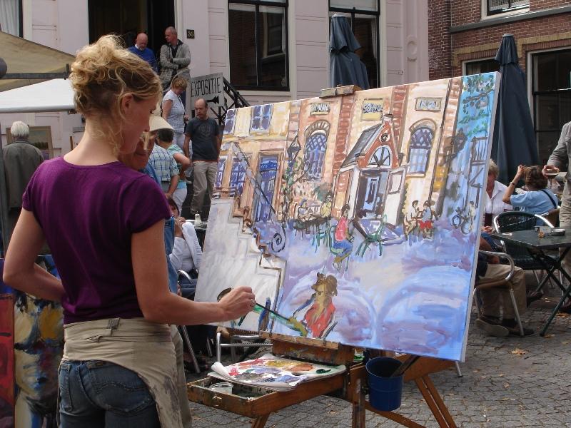 Buitenschilderen in Warmond met Meike van der Lippe