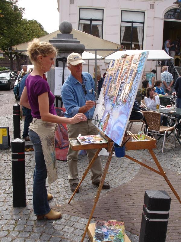 Buitenschilderen in Warmond met Meike van der Lippe II