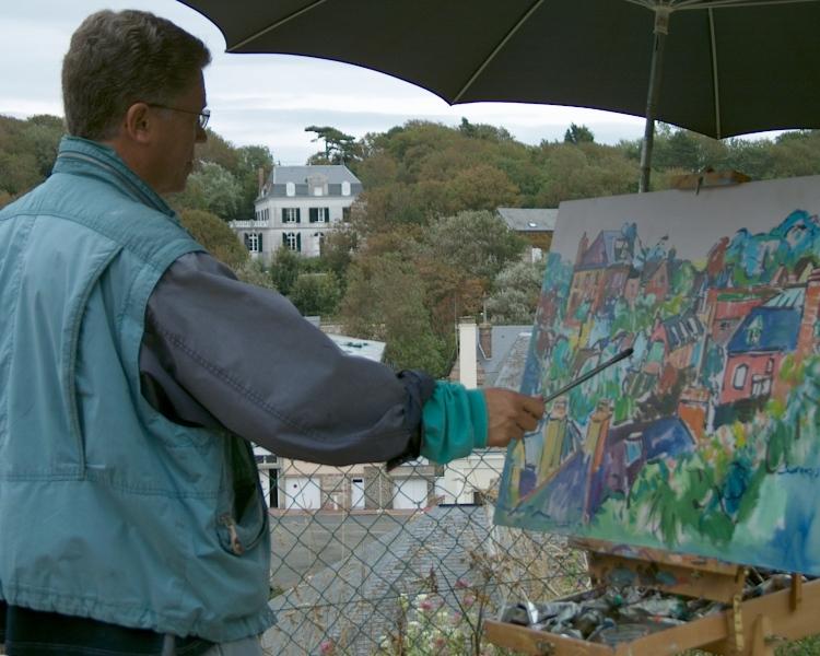 schilderen met collega bianchi