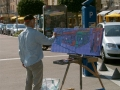 Live schilderen in Dieppe