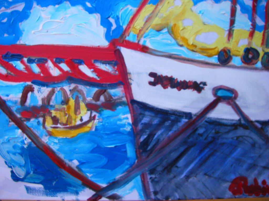 Boot aan de Handelskade