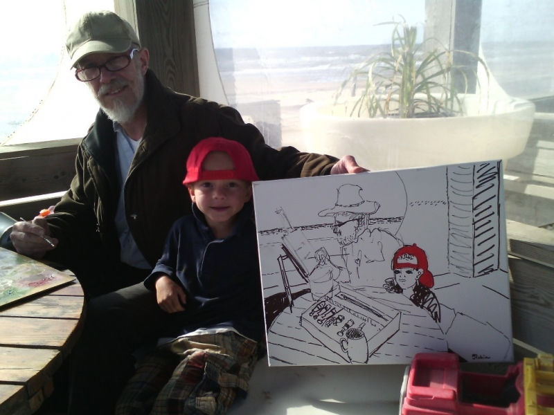 Kunstenaar en kind